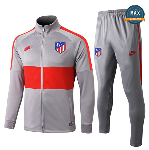 Veste Survetement Atletico Madrid 2019/20 Gris/Rouge