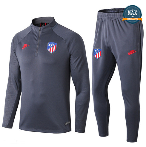 Survetement Atletico Madrid 2019/20 Gris foncé sweat zippé