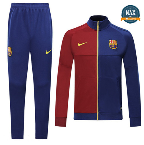 Veste Survetement Barcelone 2019/20 Bleu/Rouge
