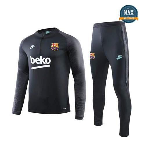 Survetement Barcelone 2019/20 Noir sweat zippé