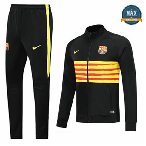 Veste Survetement Barcelone 2019/20 Noir/Jaune