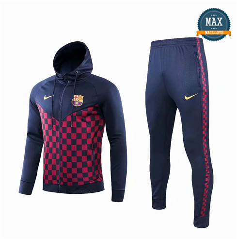 Veste Survetement à Capuche Barcelone 2019/20 Rouge Grille