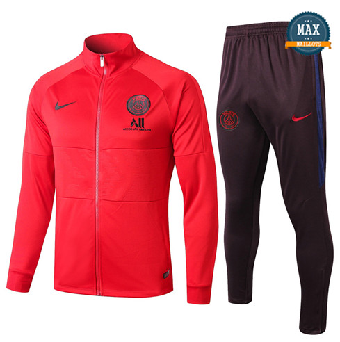 Veste Survetement Paris Saint Germain 2019/20 Rouge/Noir