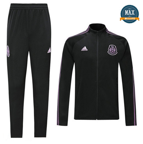Veste Survetement Mexique 2019/20 Noir/Violet bande