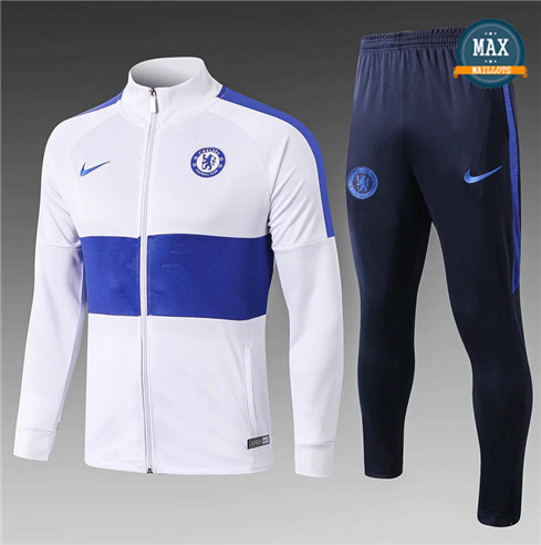 Veste Survetement Chelsea 2019/20 Blanc/Bleu Marine
