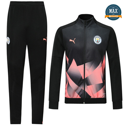 Veste Survetement Manchester City 2019/20 Noir/Rose