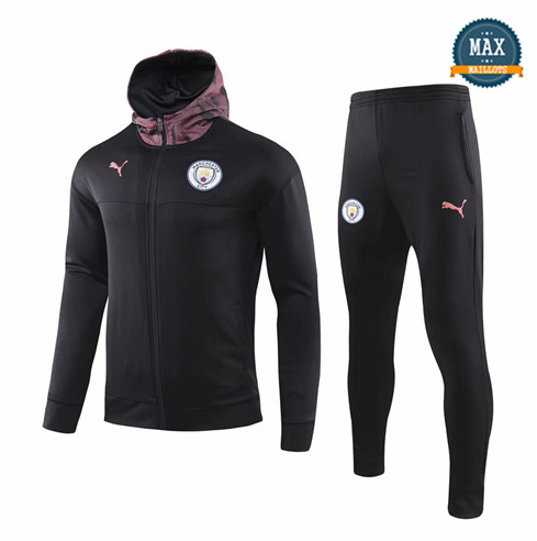 Veste Survetement à Capuche Manchester City 2019/20 Noir/Violet