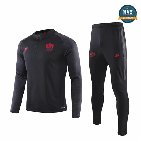 Survetement AS Roma 2019/20 Noir sweat zippé