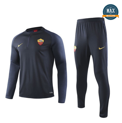 Survetement AS Roma 2019/20 Bleu Marine sweat zippé