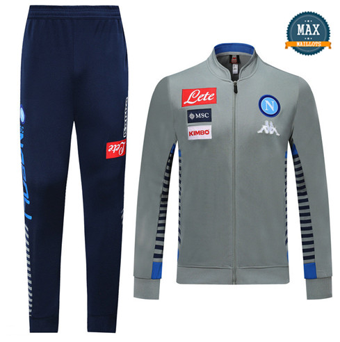 Veste Survetement Naples 2019/20 Gris/Bleu