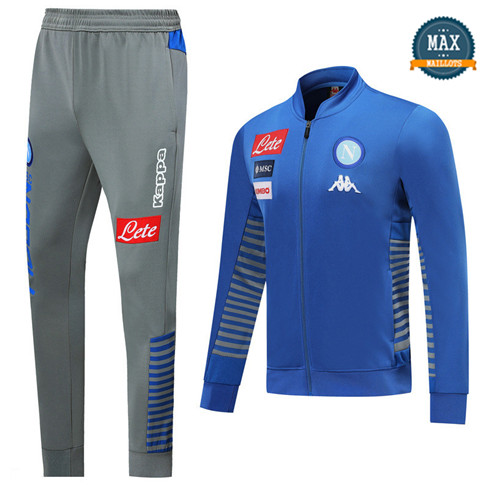Veste Survetement Naples 2019/20 Bleu/Gris
