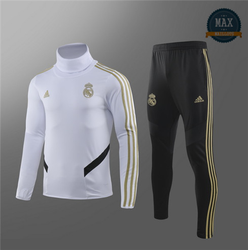 Survetement Enfant Real Madrid 2019/20 Blanc Col haut