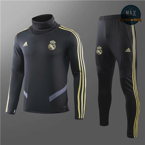 Survetement Enfant Real Madrid 2019/20 Noir Col haut