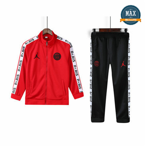 Veste Survetement Enfant Paris Saint Germain 2019/20 Rouge