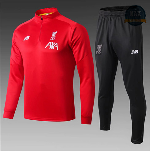 Survetement Enfant Liverpool 2019/20 Rouge/Noir