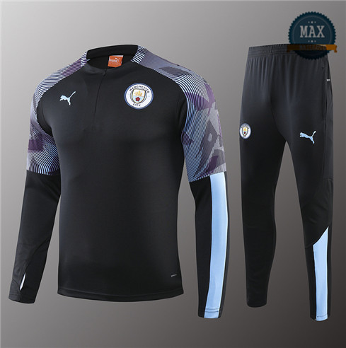 Survetement Enfant Manchester City 2019/20 Noir/Violet