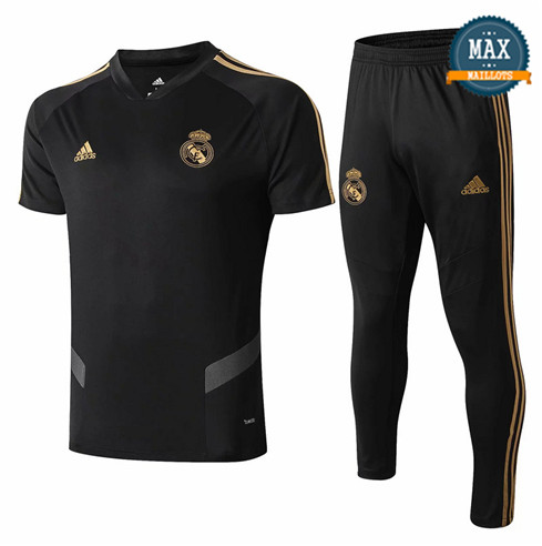 Maillot + Pantalon Real Madrid 2019/20 Training Noir Col V