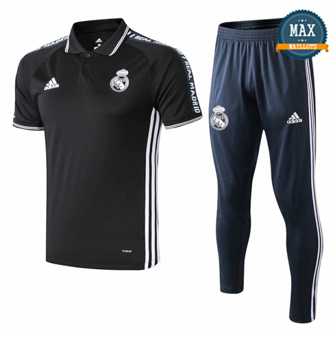 Maillot Polo + Pantalon Real Madrid 2019/20 Training Noir