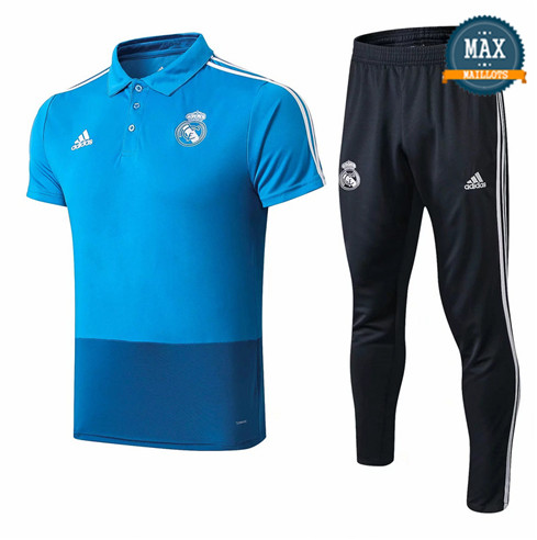 Maillot Polo + Pantalon Real Madrid 2019/20 Training Bleu/Noir