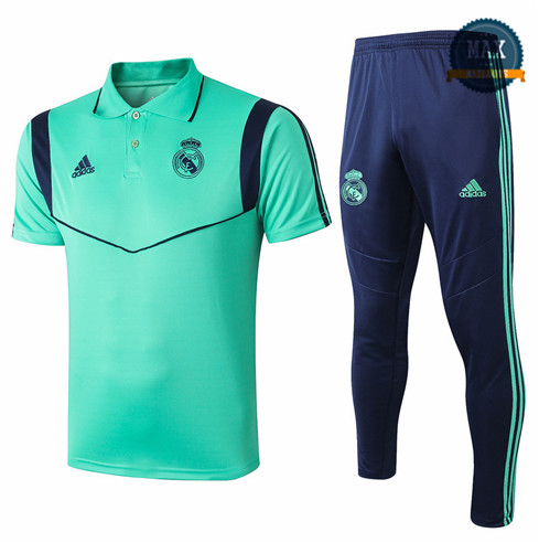 Maillot Polo + Pantalon Real Madrid 2019/20 Training Vert