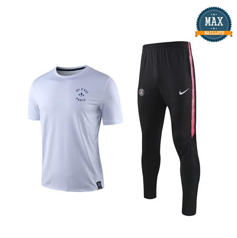 Maillot + Pantalon Paris Saint Germain 2019/20 Training Blanc/Noir