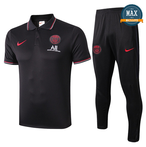 Maillot Polo + Pantalon Paris Saint Germain 2019/20 Training Noir