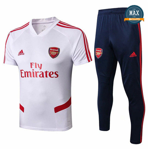 Maillot Polo + Pantalon Arsenal 2019/20 Training Blanc/Bleu Marine