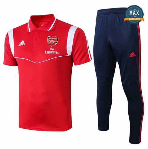 Maillot Polo + Pantalon Arsenal 2019/20 Training Rouge/Bleu Marine