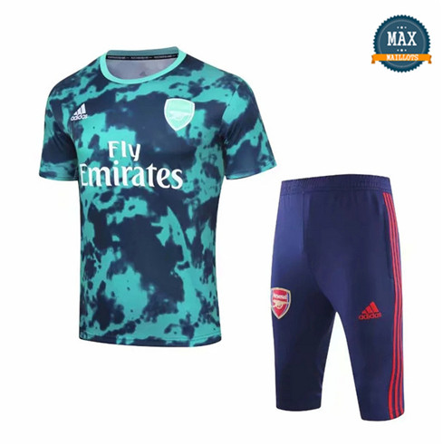 Maillot + Pantalon Arsenal 2019/20 Training Bleu Col Rond