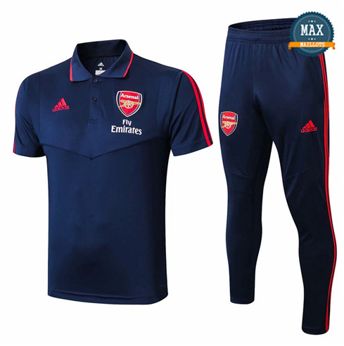 Maillot Polo + Pantalon Arsenal 2019/20 Training Bleu Marine
