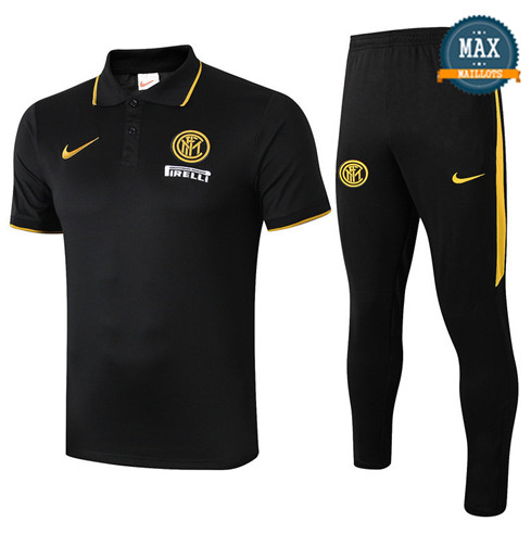 Maillot Polo + Pantalon Inter Milan 2019/20 Training Noir