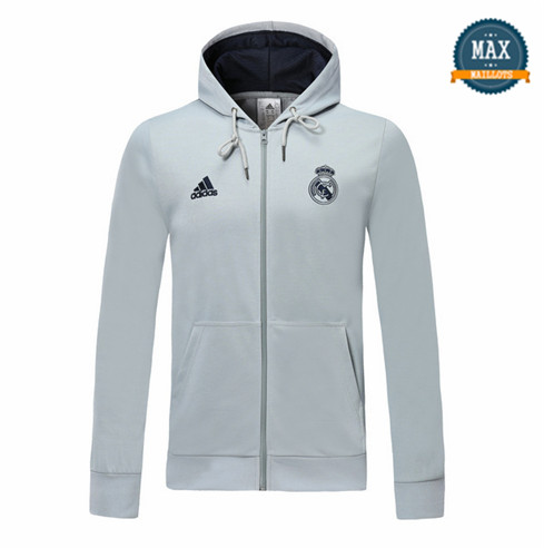 Sweat à Capuche Real Madrid 2019/20 Gris clair