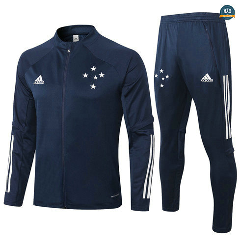 Max Veste Survetement Cruzeiro 2020/21 Bleu Marine