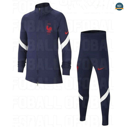 Max Veste Survetement France Enfant 2020/21 Bleu Marine