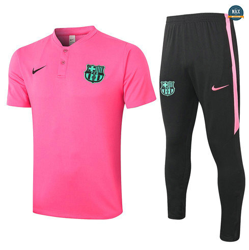 Max Maillots Barcelone POLO + Pantalon 2020/21 Training Rose