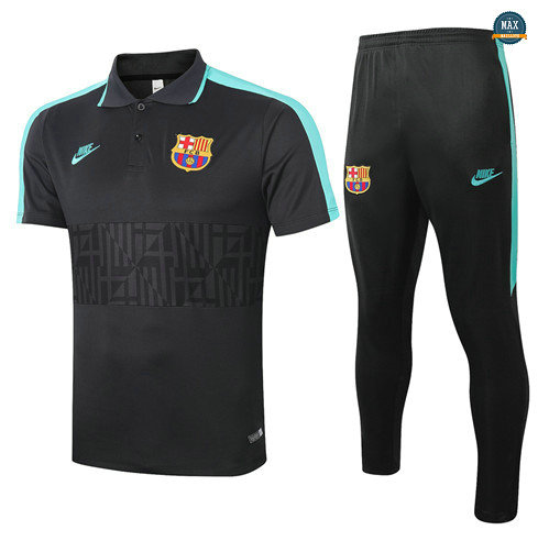 Max Maillots Barcelone POLO + Pantalon 2020/21 Training Noir