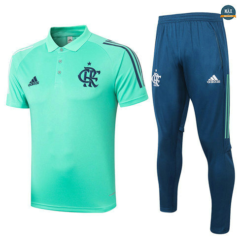 Max Maillots Flamengo POLO + Pantalon 2020/21 Training Vert