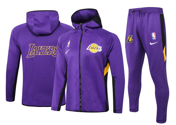 Max maillots Veste Survetement Los Angeles Lakers - Pourpre