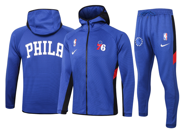 Max maillot Veste Survetement Philadelphia 76ers - Bleu