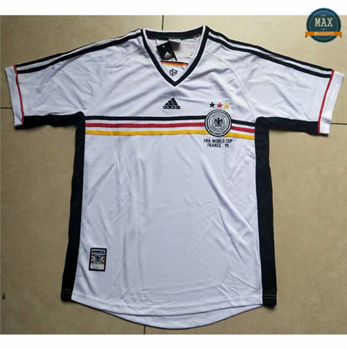 Max Maillots Classic 1998 Allemagne Blanc discout