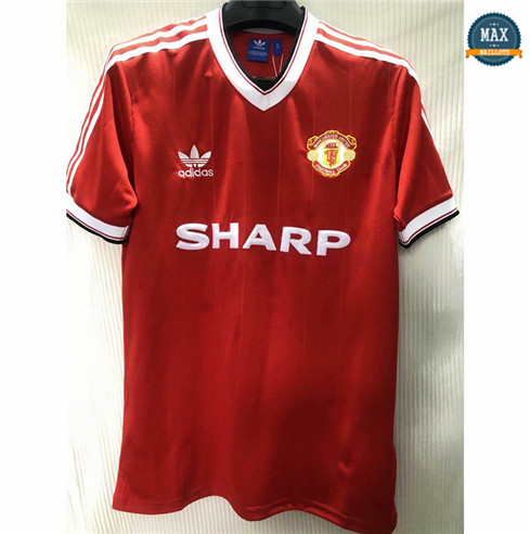 Max Maillot Classic 1984 Manchester United Domicile moins cher