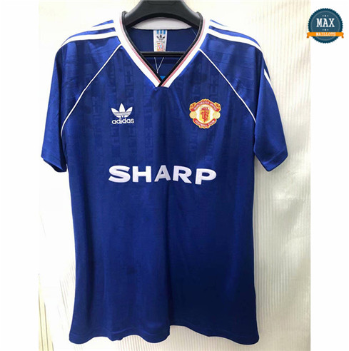 Max Maillots Classic 1988 Manchester United Third Thailande