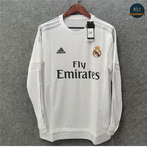 Max Maillots Classic 2015-16 Real Madrid Domicile Manche Longue