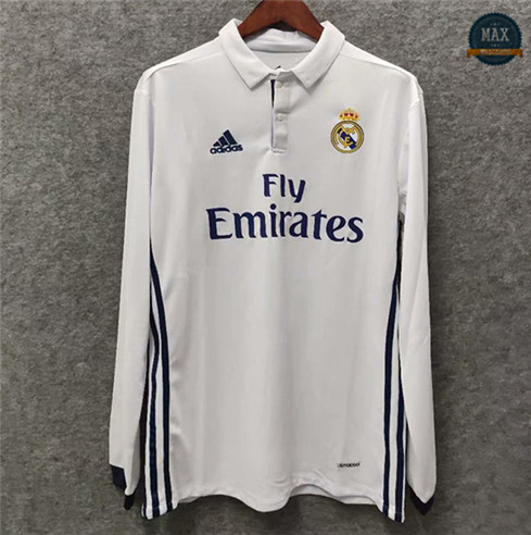Max Maillots Classic 2016-17 Real Madrid Domicile Manche Longue
