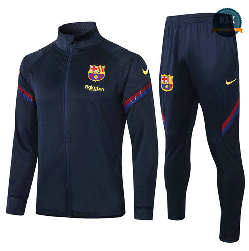 Max Veste Survetement Barcelone 2020 Bleu Marine