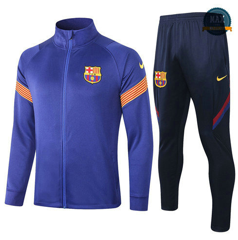 Max Veste Survetement Barcelone 2020 Bleu