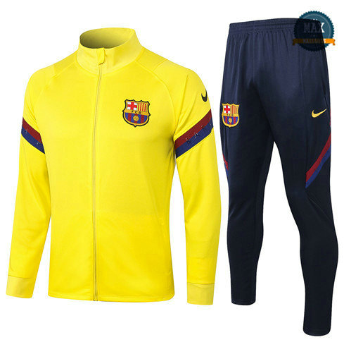 Max Veste Survetement Barcelone 2020 Jaune