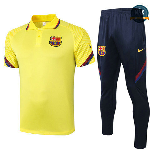 Max Barcelone POLO + Pantalon 2020 Training Jaune