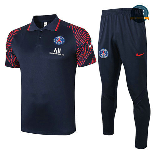 Max PSG POLO + Pantalon 2020 Training Bleu Marine/Rouge