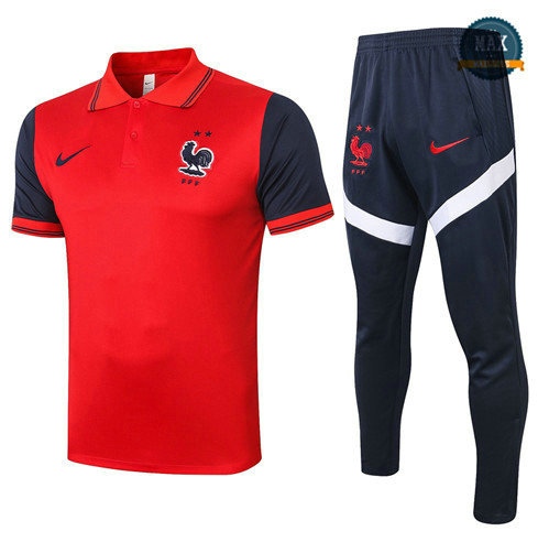 Max France POLO + Pantalon 2020 Training Rouge